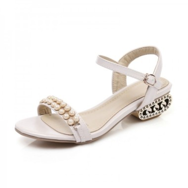 big-size-hot-2018-summer-women-sandals-luxury-string-bead-shoes-woman-casual-low-heels-party-chunky-heels-sandals-beige